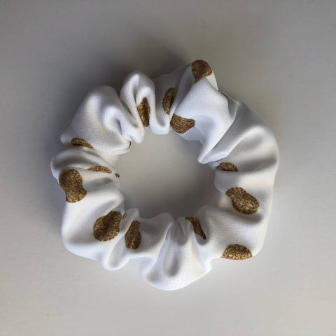 Gold Glam Dot Scrunchie