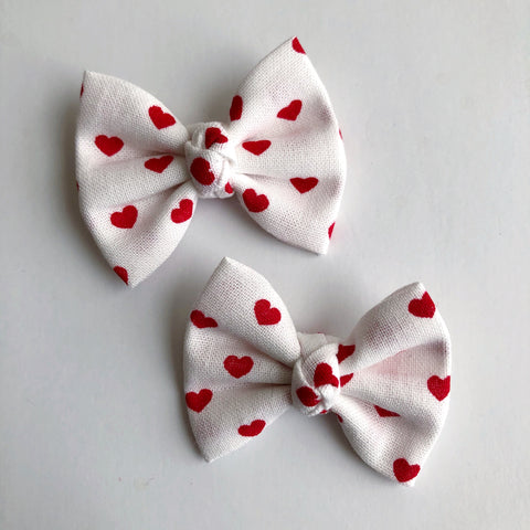 "White Hearts 2"" pigtail set"