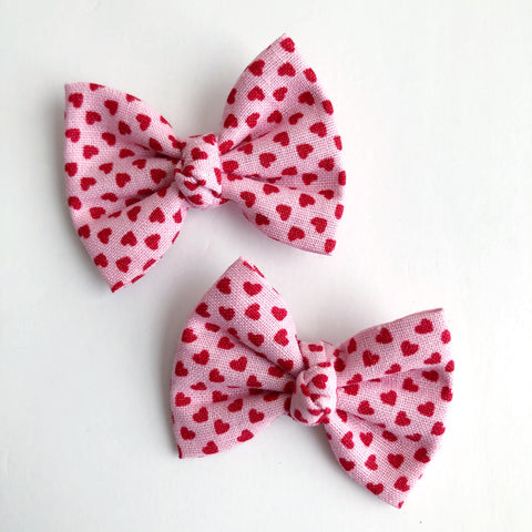"Mini Hearts 2"" pigtail set"