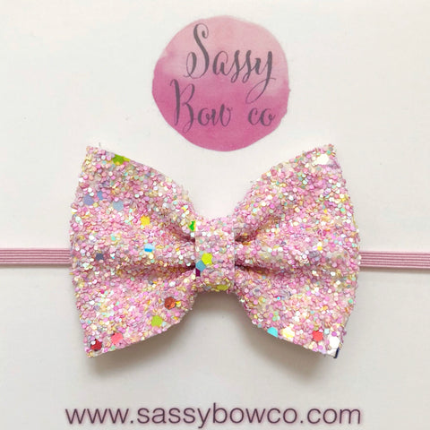 Small Easter egg Hunt Glitter Bow