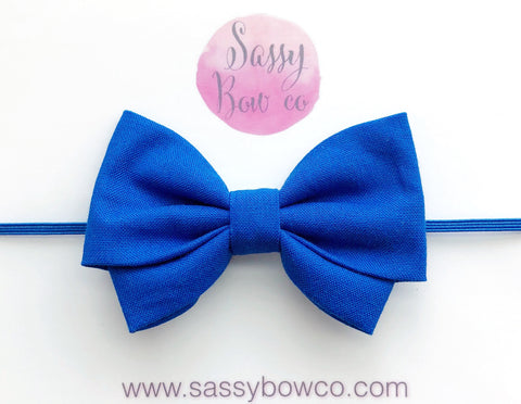 Blue Madi Cotton Bow
