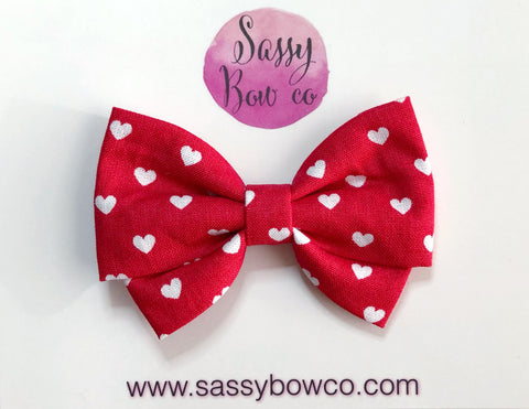 Red Hearts Madi Cotton Bow