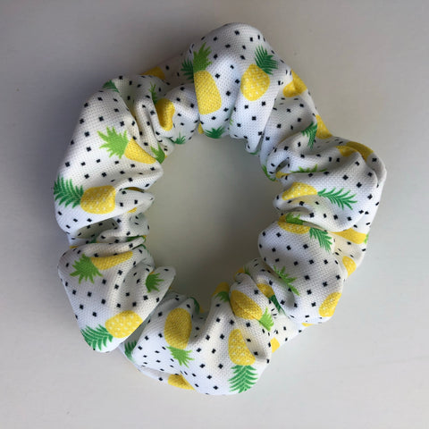 Pineapple Dot Scrunchie
