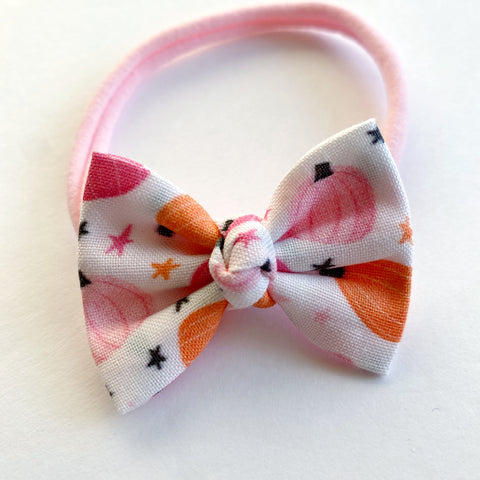 "Girly pumpkin 2"" Chloe bow"