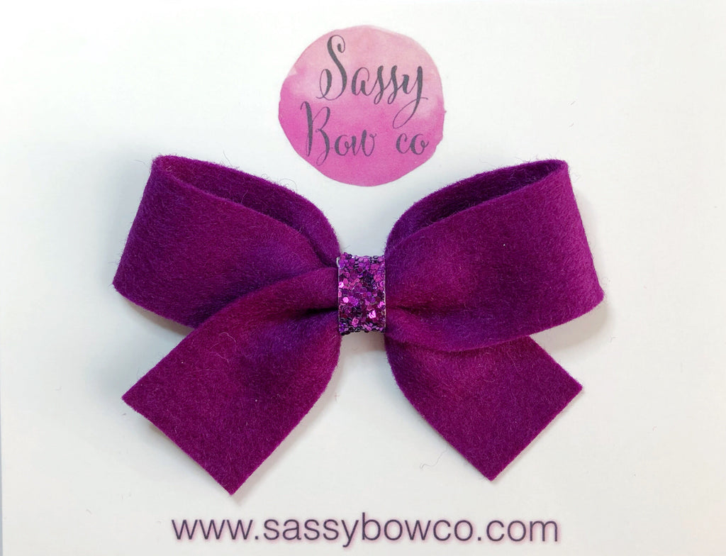 Plum Anniston Bow