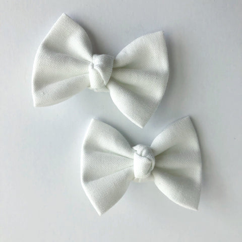 "White 2"" pigtail set"