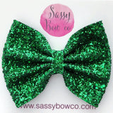 Large Green Glitter Bow