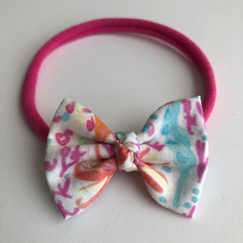 "Coral Reef 2"" Chloe bow"