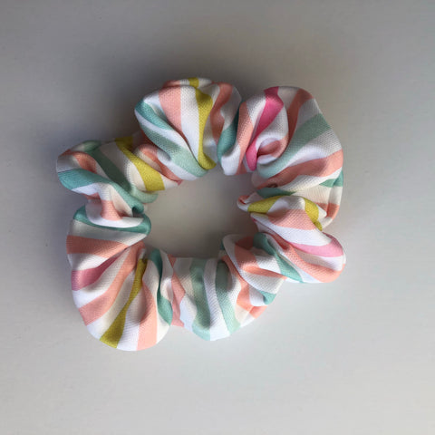 Pastel Stripe Scrunchie