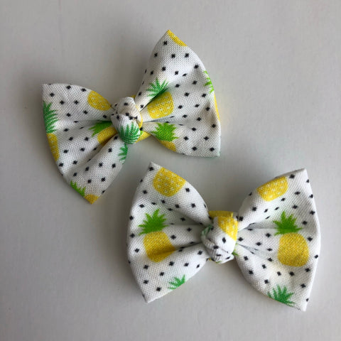 "Pineapple Dots 2"" pigtail set"