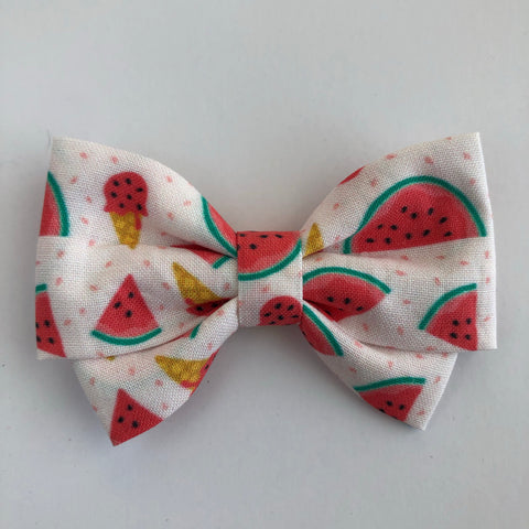 Watermelon Ice cream Madi Cotton Bow