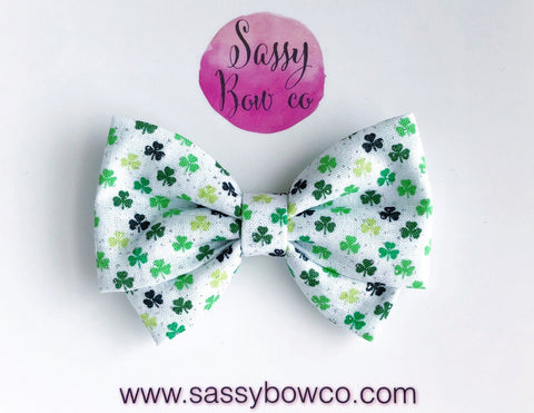 Lucky Clover Madi Cotton Bow