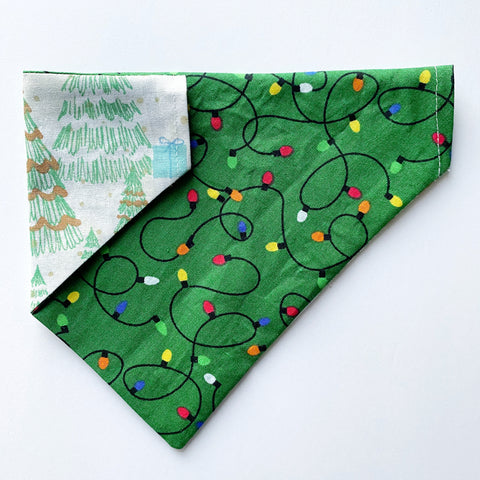 Christmas Lights / Gifts Reversible Dog Bandana