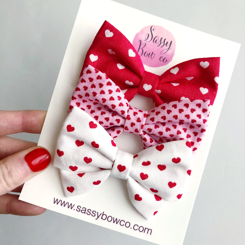 Valentine's Day Madi Cotton Bow Bundle Set