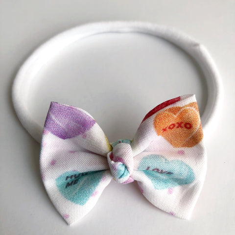 "Candy Heart 2"" Chloe bow"