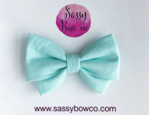 Mint Green Madi Cotton Bow