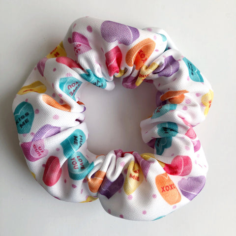 Candy Heart Scrunchie