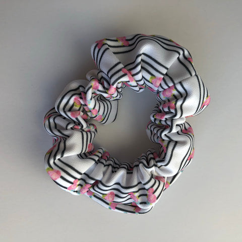 Rose Stripes Scrunchie