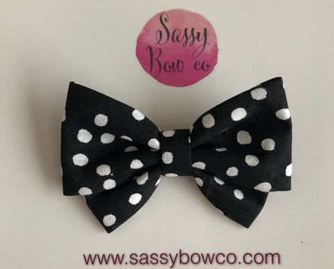 Mickey Black Dot Madi Cotton Bow