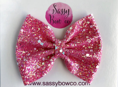 Unicorn Party Large Glitter Bow