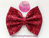 Large Red Glitter Bow