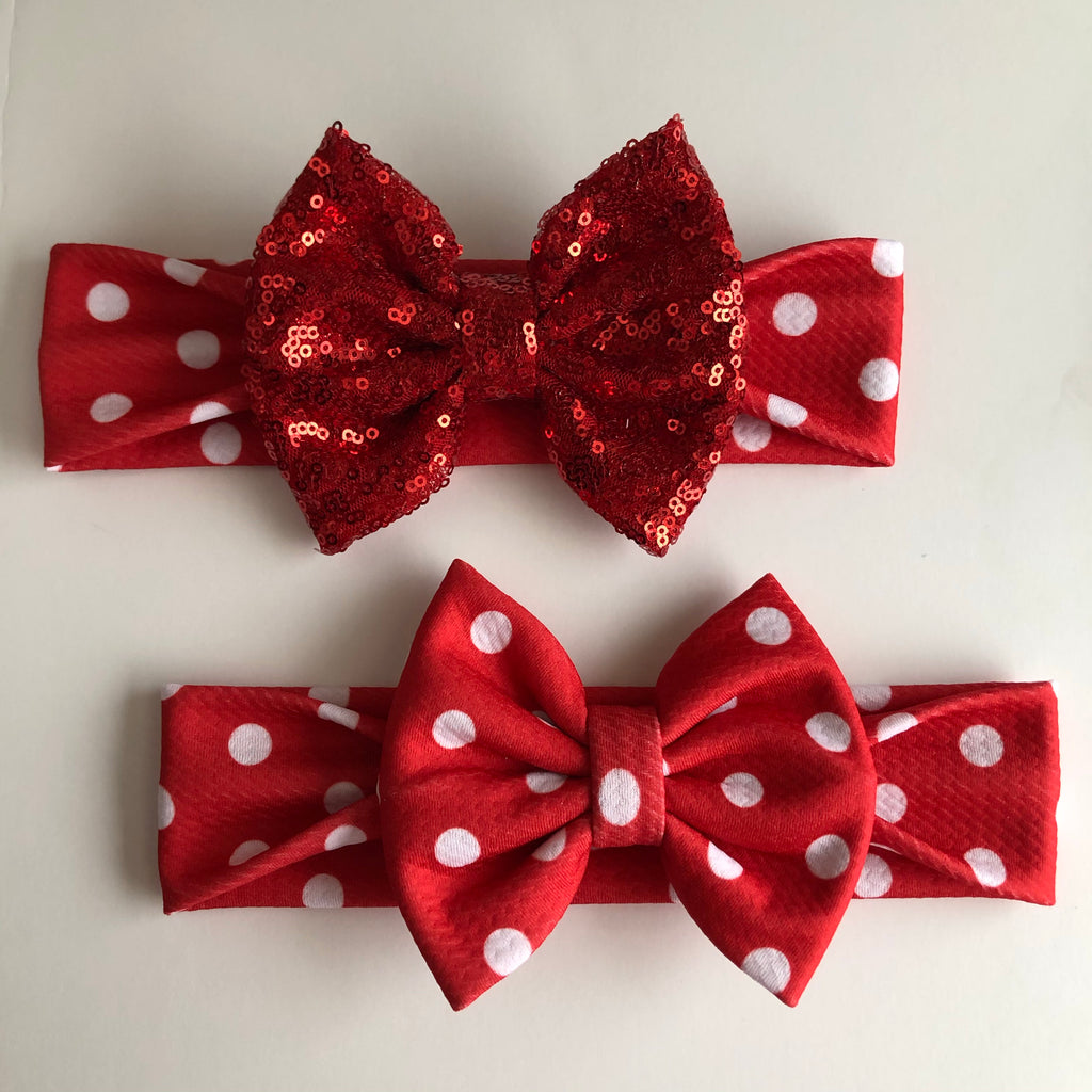 Mickey Red Dot Headbands