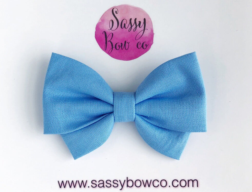 Periwinkle Madi Cotton Bow