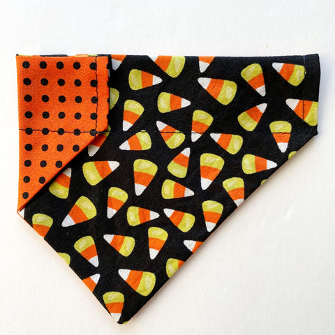 Candy Corn Reversible Dog Bandana
