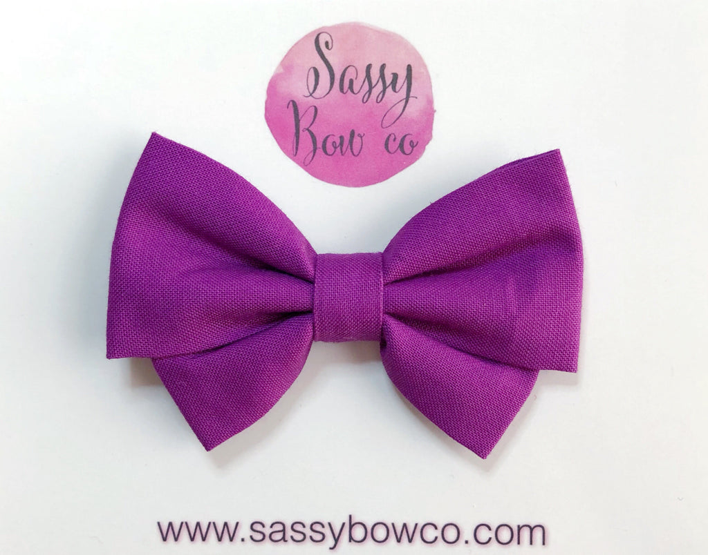 Orchid Berry Madi Cotton Bow