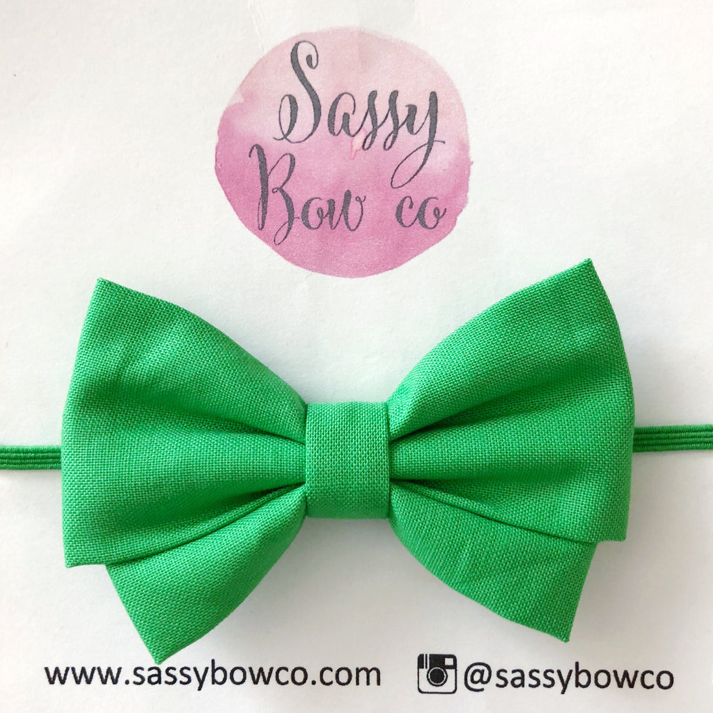 Green Madi Cotton Bow