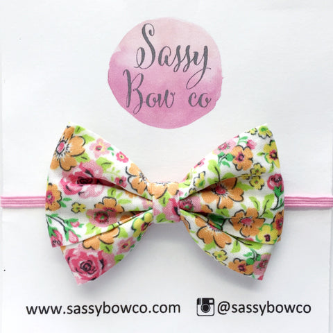 Bright Floral Madi Cotton Bow