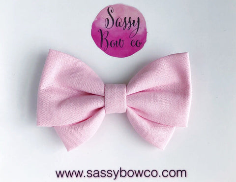 Soft Pink Madi Cotton Bow