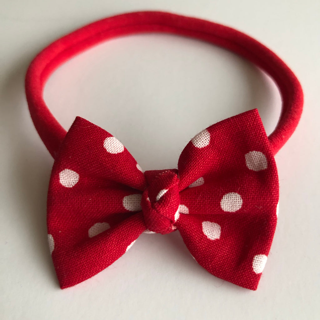 "Mickey Red Dot 2"" Chloe bow"