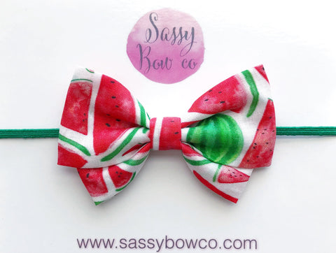 Watermelon Madi Cotton Bow