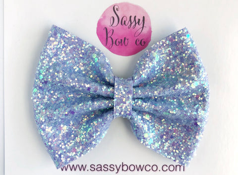Mermaid Scales Large Glitter Bow