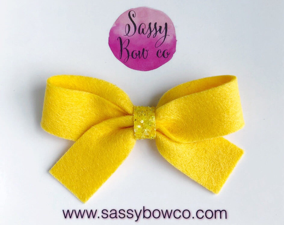 Sunshine Yellow Anniston Bow