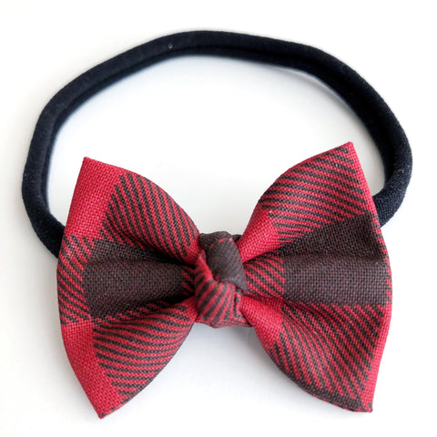 "Buffalo Plaid 2"" Chloe bow"