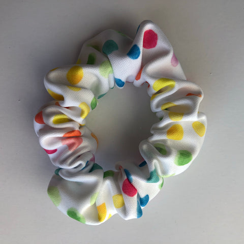 watercolor Multi Dot Scrunchie