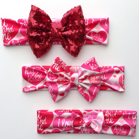 Hugs & Kisses Headbands