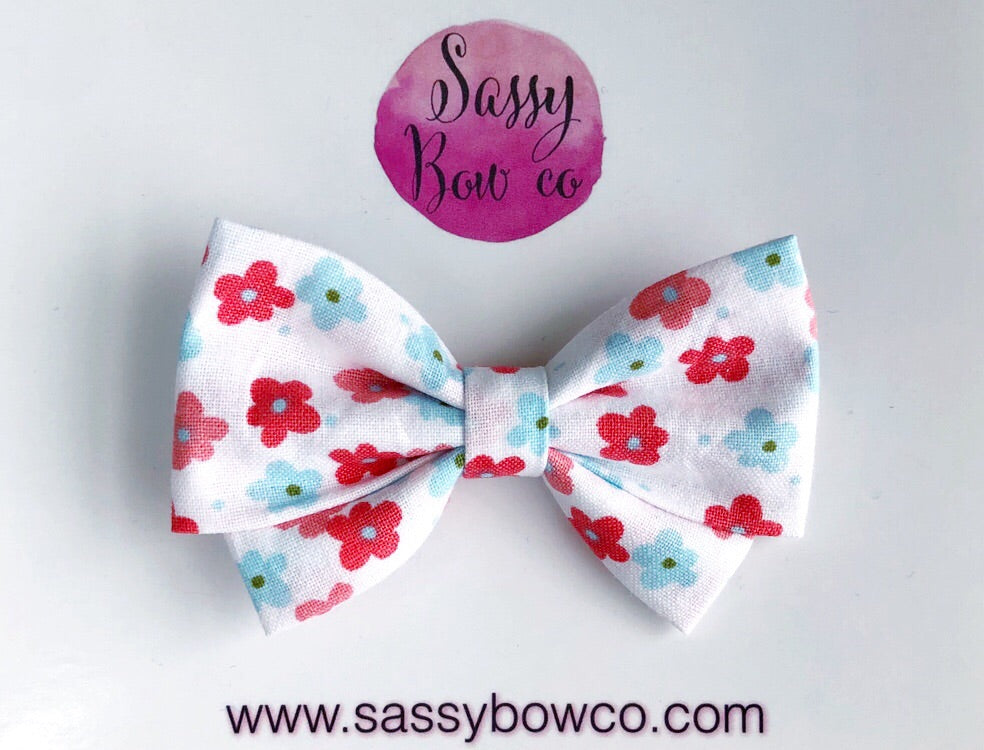 Sweetie Floral Madi Cotton Bow