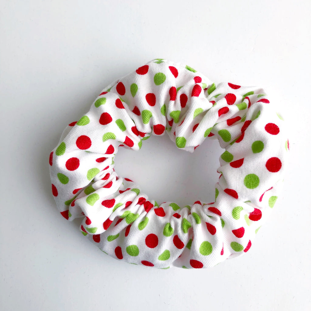 Christmas Dots Scrunchie