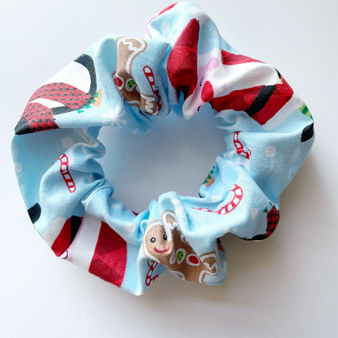 Santa Cotton Scrunchie