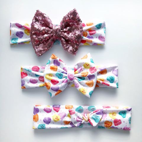 Candy hearts Headbands