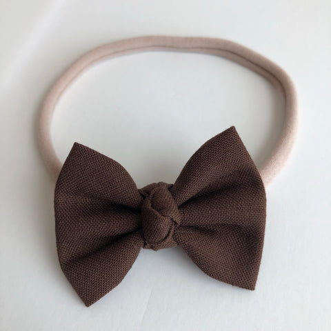 "Chocolate 2"" Chloe bow"