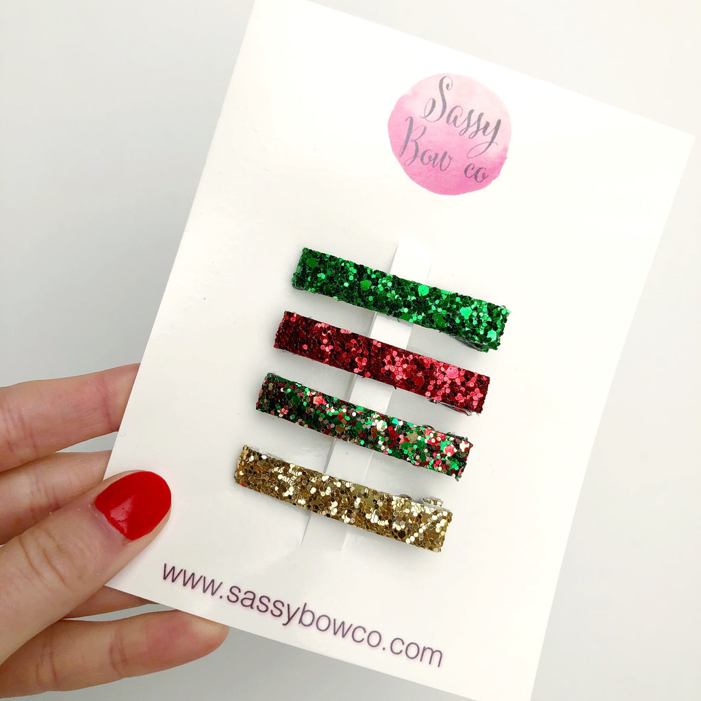 Holiday Glitter Clip Set