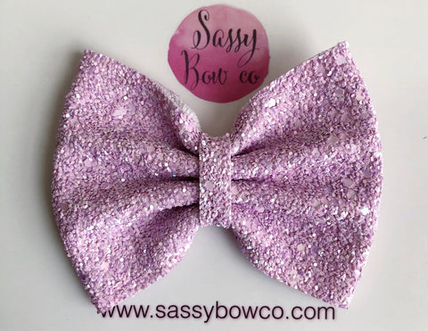 Blushing Pink Large Glitter Bow