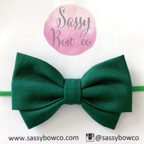 Forest Green Madi Cotton Bow