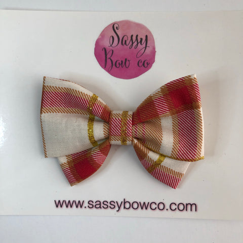 Fall Flannel Madi Cotton Bow