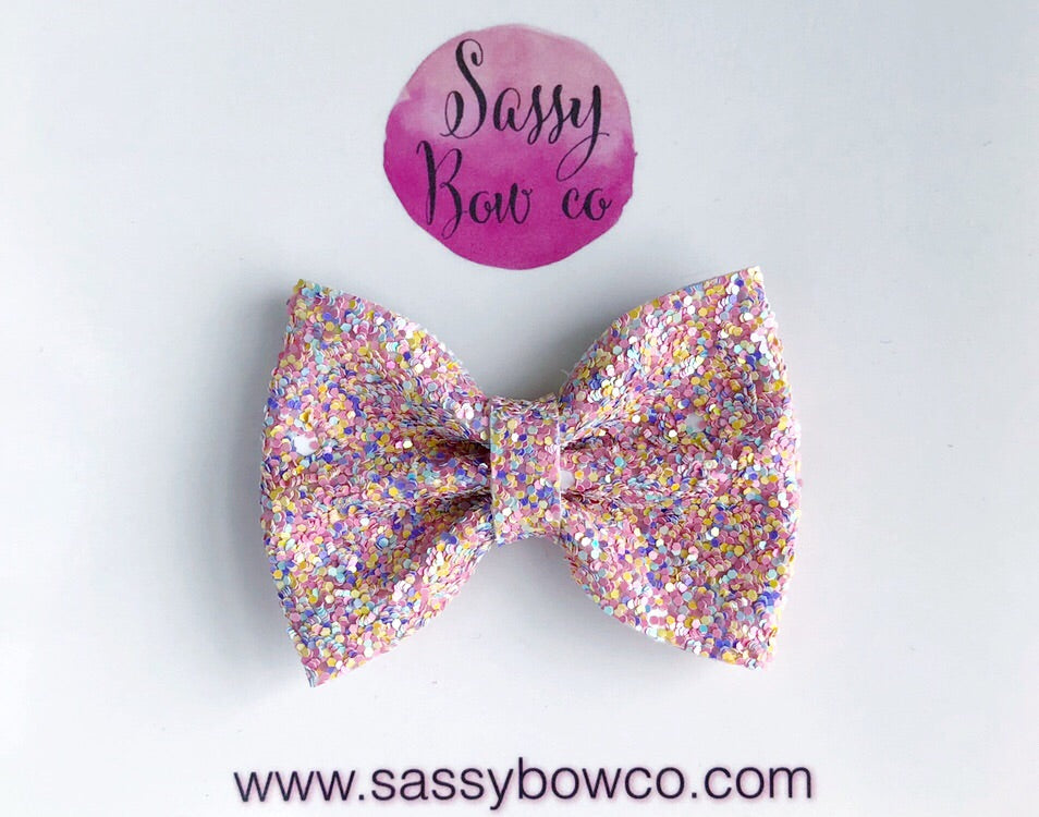 Small Easter Egg Glitter Bow