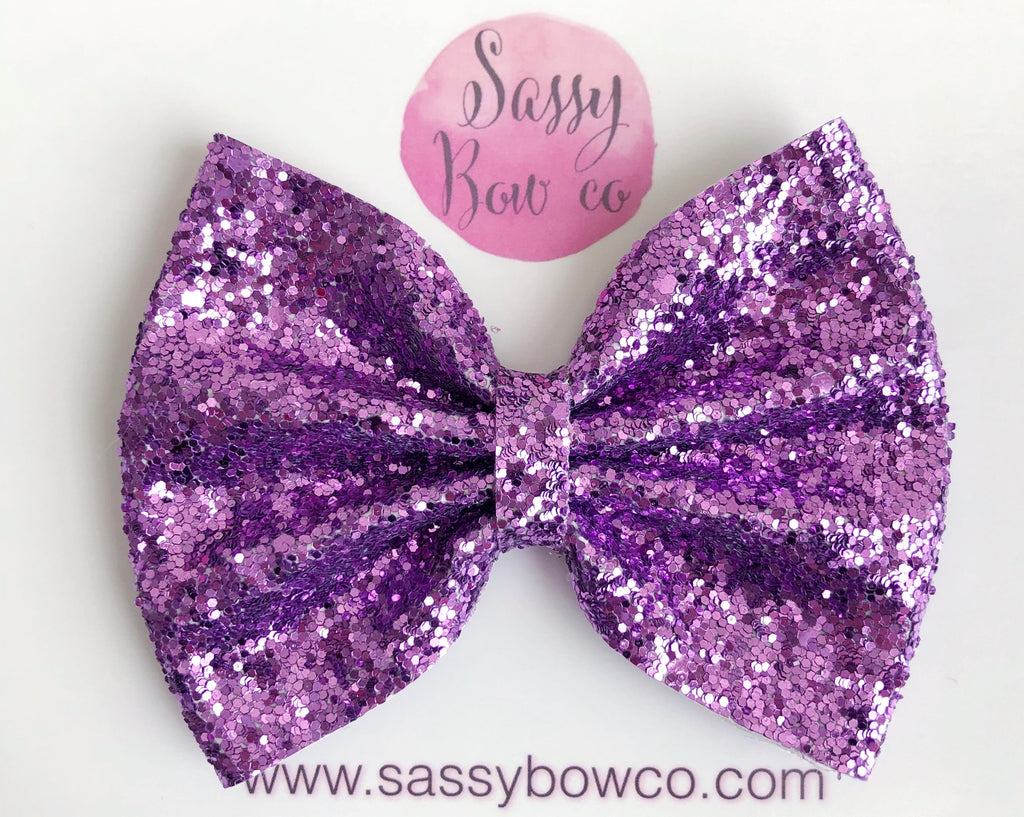 Purple Large Glitter Bow